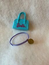 Barbie Gymnastic Doll Coach Blue Bag Gold Star Medallion Replacement