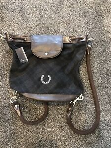 Fred Perry BNWT Ladies Check Rucksack