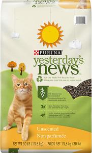 Lightweight Unscented Paper Cat Litter 30 lb Box Original Texture NEW