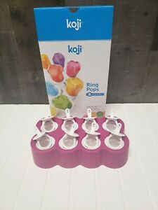 Koji Ring Pops 8 Slot Silicone Molds Ice Pops, Lollipops, Chocolates and More