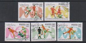 Laos - 1994, World Cup Football set - CTO - SG 1386/90 (a)