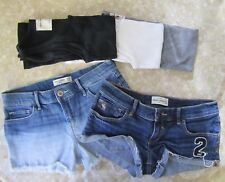 Lot of 5 Abercrombie Kids - 2 Denim Shorts Size 16 and 3 Tank Tops Size Large