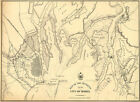Map of the defences of the city of Mobile AL c1862 repro 16x12