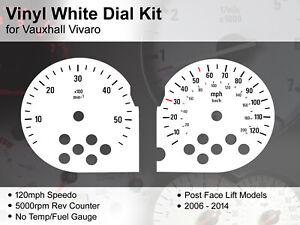 Vauxhall Vivaro (2006 - 2014) FaceLift - 120mph / 5000rpm - Vinyl White Dial Kit