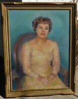 Geraldine Birch (1883-1972, early CA artist, oil/canvas 34 x 25, vintage frame