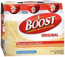 BOOST Nutritional Energy Drinks Vanilla 48 oz (Pack of 4)