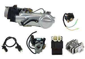 150cc Scooter Motor Complete Engine Set GY6 Single Cylinder 4-Stroke Short Case