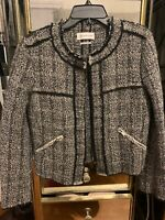 Isabel Marant Etoile Grey Jacket Wool Linen Tweed Boucle Size 34 Retail $595