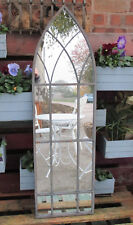 Shabby Chic Gothic Style Metal Framed Ornate Arched Outdoor Garden Wall Mirror