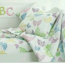 The Company Store Standard Pillowcase Laceys Butterfly Pastel Multi 100% Cotton