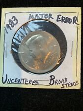 1983-D Kennedy Half Dollar MAJOR ERROR UNCENTERED BROAD STRIKE NO RIM