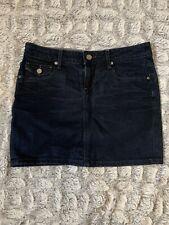 PAIGE Denim Mini Skirt Pockets size 25 Dark Blue