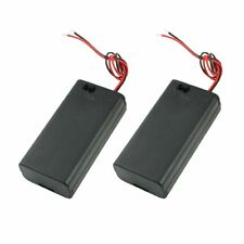 2PCS Battery Box Holder for 2x1.5V AA Batteries w Cover On/Off Switch LW