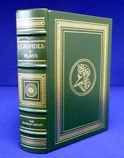 EURIPIDES NINE PLAYS. MINT. Rope + Leather Hdcvr. 9 Translators. Franklin 1976