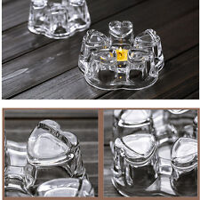 Heat Insulated Handmade Clear Crystal Glass Teapot Warmer Dock Tea Boiling Base