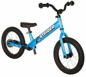 STRIDER Sports 14X Kids Balance Bike No-Pedal Learn To Ride Bike Awesome Blue