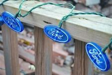 Blue Ford Oval String Lights * Decoration for Garage or Man Cave * FREE USA SHIP