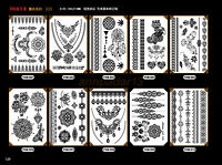 Waterproof Temporary Tattoos Paper Black White Lace pattern Body Tattoos Sticker