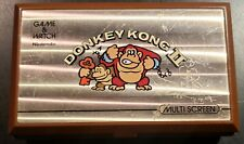 Nintendo Game And Watch Donkey Kong II 2 Multi Screen, CLEANED AND TESTED