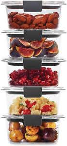 Rubbermaid Leak-Proof Brilliance Food Storage Set | 1.3 Cup Plastic Containers |