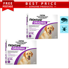 Frontline Original PURPLE For Dogs 20 to 40 Kg 8 Doses (4 Pack X 2) by Merial