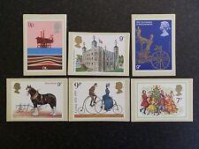 1978 tarjetas PHQ conjunto de menta año 6 juegos de Royal Mail postales.