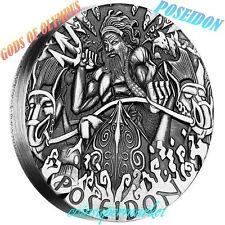 Australia 2014 Gods Of Olympus Poseidon 2oz Silver High Relief Coin Mintage 1500