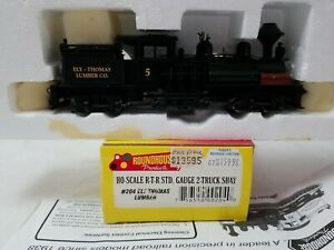 ROUNDHOUSE #204 HO SCALE 2-TRUCK SHAY ELI LUMBER Co. #5 - RTR, TESTED, RUNS NICE
