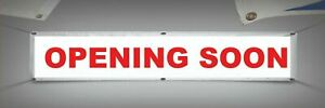 PVC Banner  Opening Soon New Business Shop Window Heavy Duty   VERY STRONG