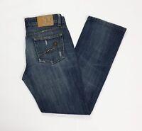 Liu jo jeans donna usato destroyed strappati slim W29 tg 43 straight T3493