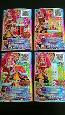 "Trading card of Japanese Animation ""AIKATSU STARS 2nd"" Queens red coord Rare 220"