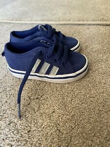 Baby Boy Adidas Nizza Trainers Size 4K