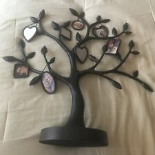 "Hallmark The Family Tree 20"" Bronze Metal Photo Display Stand w/8 Hanging Frames"