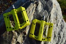 AZONIC BLAZE MTB Flatpedale austauschbare Stahlpins Ersatzpins neon yellow