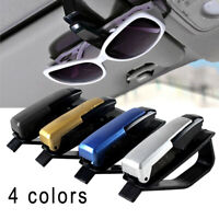 Sun Visor Sunglasses Eye Glasses Card Pen Holder Clip PVC Car Auto Accessories