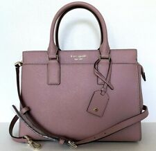 New Kate Spade New York Cameron medium Satchel Leather Dusty Peony