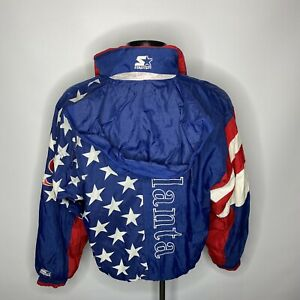 Vintage Starter 1996 USA Atlanta Olympic Games Bomber Jacket Retro Mens Medium