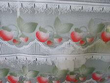 rideaux L 90 cm neuf fraises vendu par tranche de 23 cm