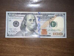 100 Dollar bill star note 2009A RARE