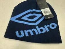 1857 NWT Mens Umbro Navy Sky Blue Knit Cap Sz OS