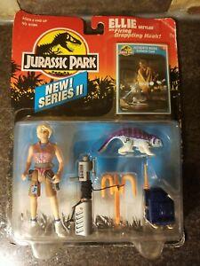 JURASSIC PARK Movie Series 2 ELLIE w/COLLECTOR CARD Sealed Vintage 1993 NEW