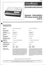Nordmende Original Service Manual für HiFi  stereo recorder 6000   4.434A