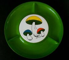 VINTAGE 60'S 70'S MUSHROOMS BY MICHEL DIVIDED SERVING PLATE