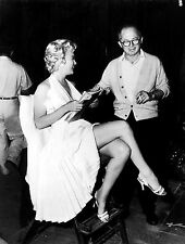 Marilyn Monroe On The Set Of Seven Year Itch Holding Script 8 x 10 Photograph