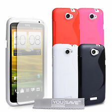 Accessories For HTC One X S-Line Pattern Silicone Gel Case Cover & Screen Film