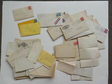 55 Old Letters 1800s-70s Correspondence Lot Collection Papers Covers Stamps VTG