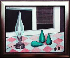 Birnen Petroleumlampe Öl 1968 Michaela Krinner Ausstellungsbild publiziert +Buch