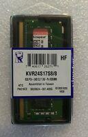 Kingston KVR24S17S8/8 8GB 2400MHz DDR4 SDRAM SO-DIMM Memory For Notebook NUC