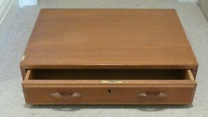 Beautiful 1960s Vintage retro Danish look modular teak drawer & holder