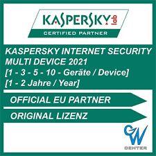 Kaspersky internet security Multi Device 2021 1PC 3PC 5PC 10PC Geräte 1 - 2 Year